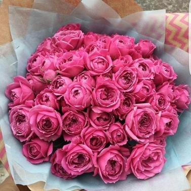 Букет из 29 роз сорта Мисти Баблс