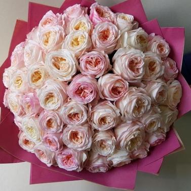 Букет из 49 роз сорта Анжи