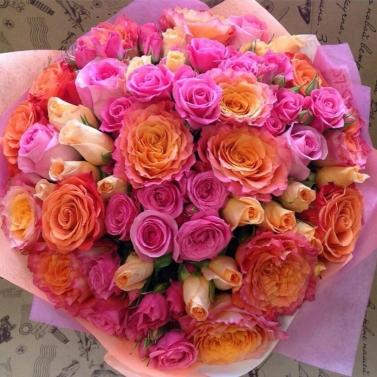Букет из микса роз